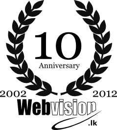 Webvision Sri Lanka 10 years in web design and development