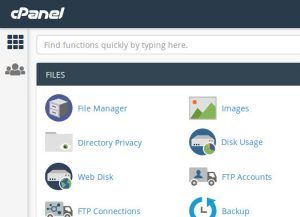 cPanel Images interface